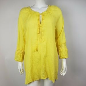 LANE BRYANT Yellow Boho Top 18/20